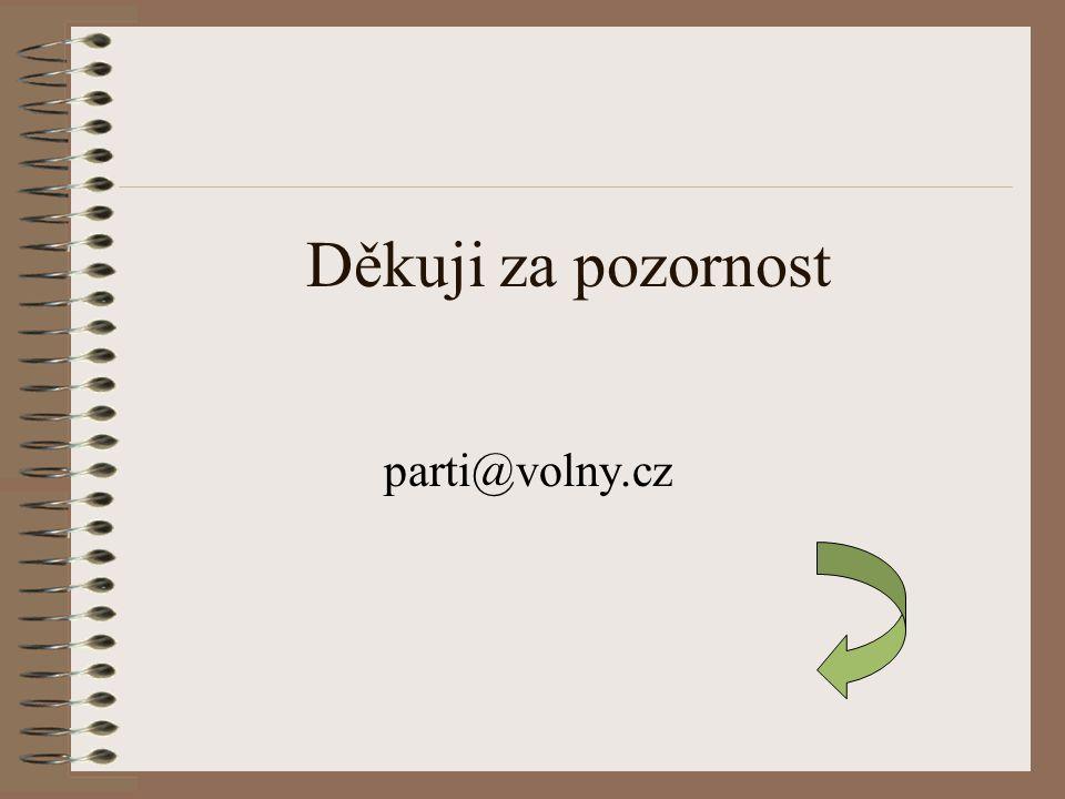 Děkuji za pozornost parti@volny.cz