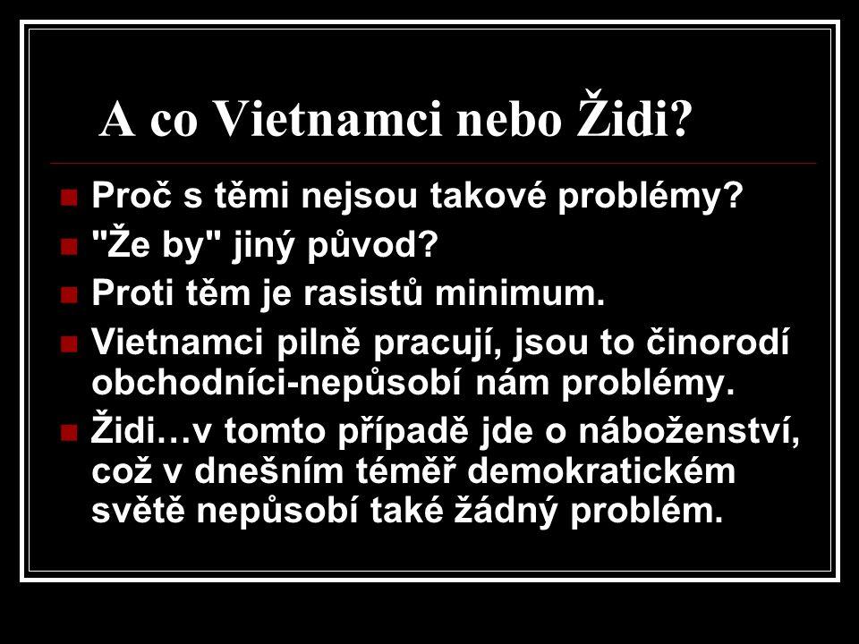 A co Vietnamci nebo Židi