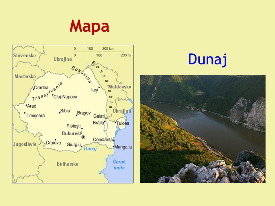 Mapa Dunaj