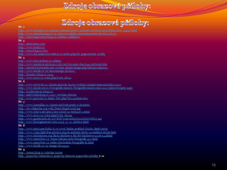 Zdroje obrazové přílohy: Zdroje obrazové přílohy: