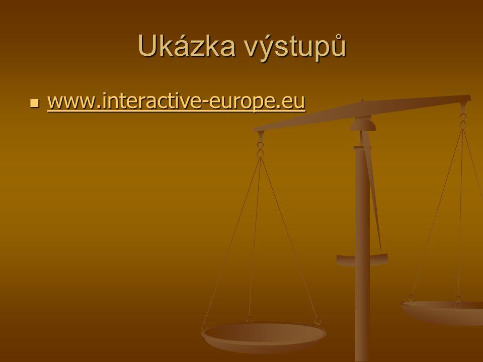 Ukázka výstupů www.interactive-europe.eu