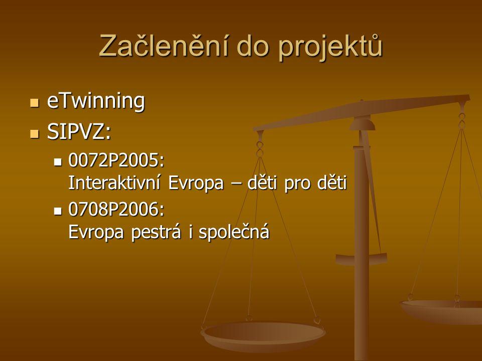 Začlenění do projektů eTwinning SIPVZ: