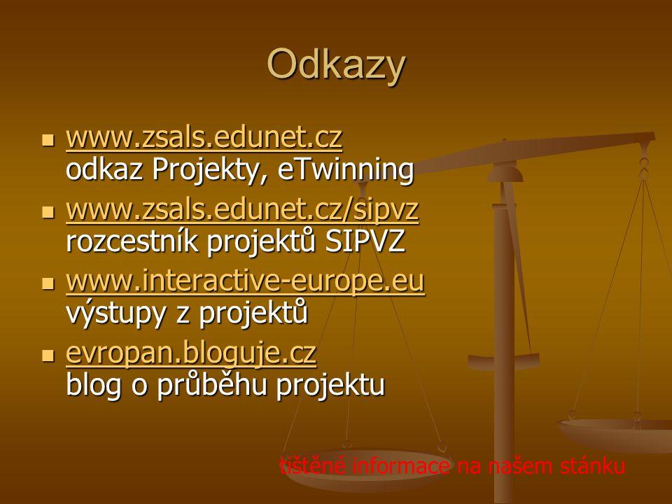 Odkazy www.zsals.edunet.cz odkaz Projekty, eTwinning
