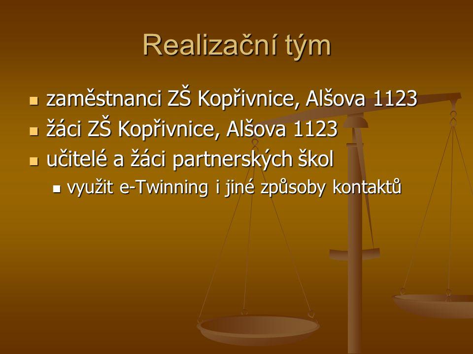 Realizační tým zaměstnanci ZŠ Kopřivnice, Alšova 1123