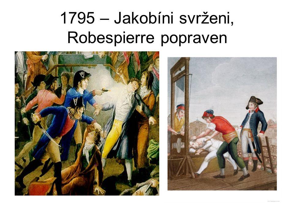 1795 – Jakobíni svrženi, Robespierre popraven