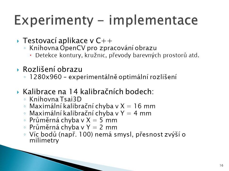 Experimenty - implementace