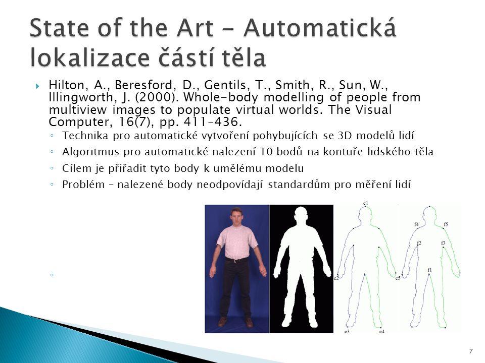State of the Art - Automatická lokalizace částí těla