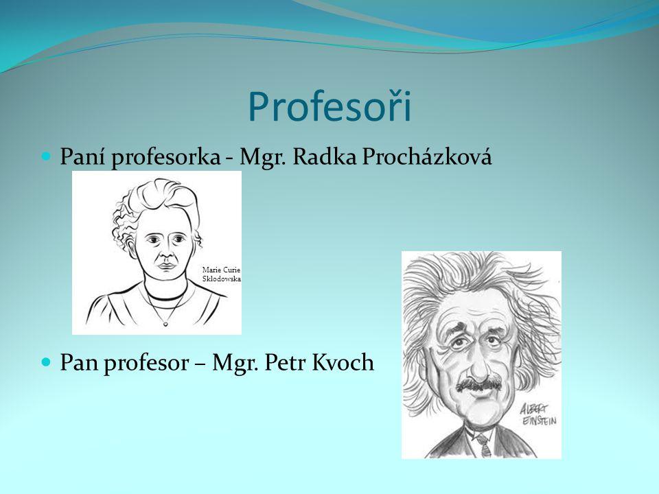 Profesoři Paní profesorka - Mgr. Radka Procházková