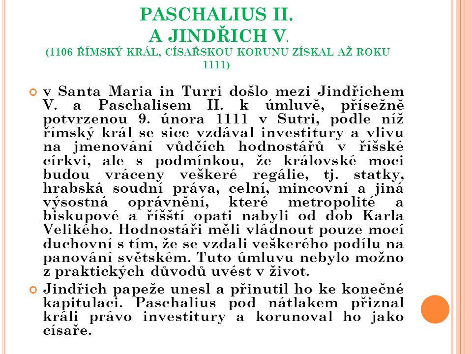 PASCHALIUS II. A JINDŘICH V