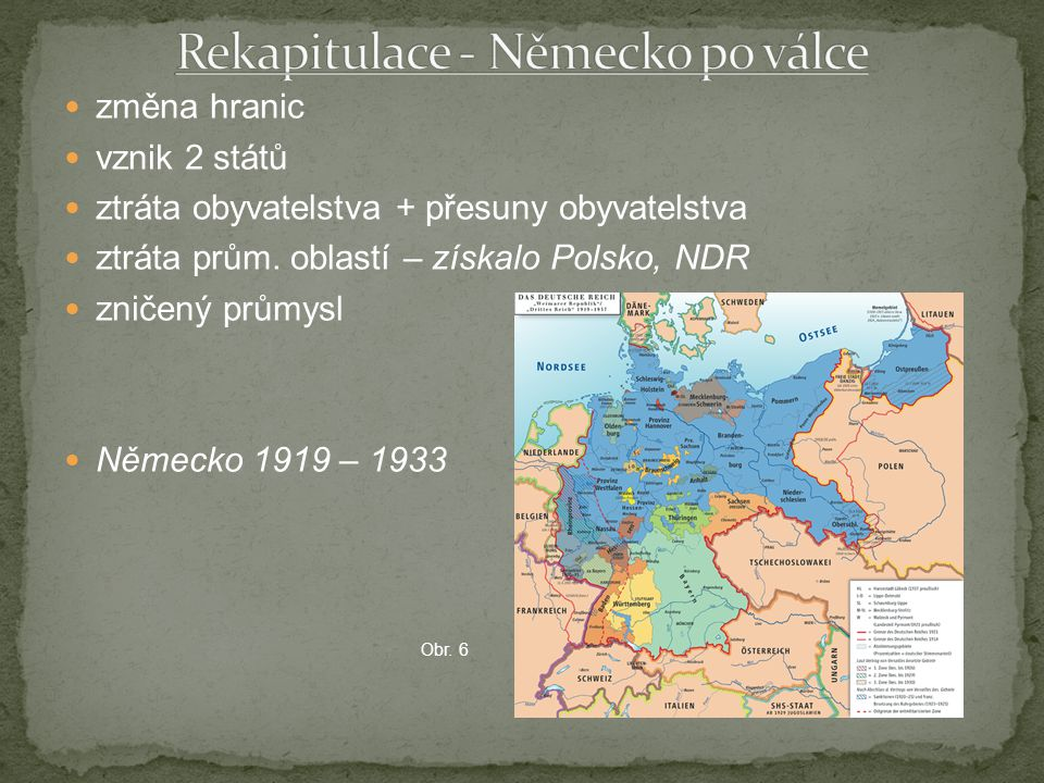 Rekapitulace - Německo po válce