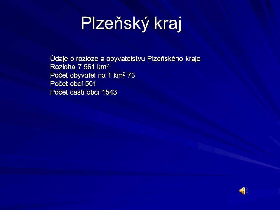 Plzeňský kraj Údaje o rozloze a obyvatelstvu Plzeňského kraje
