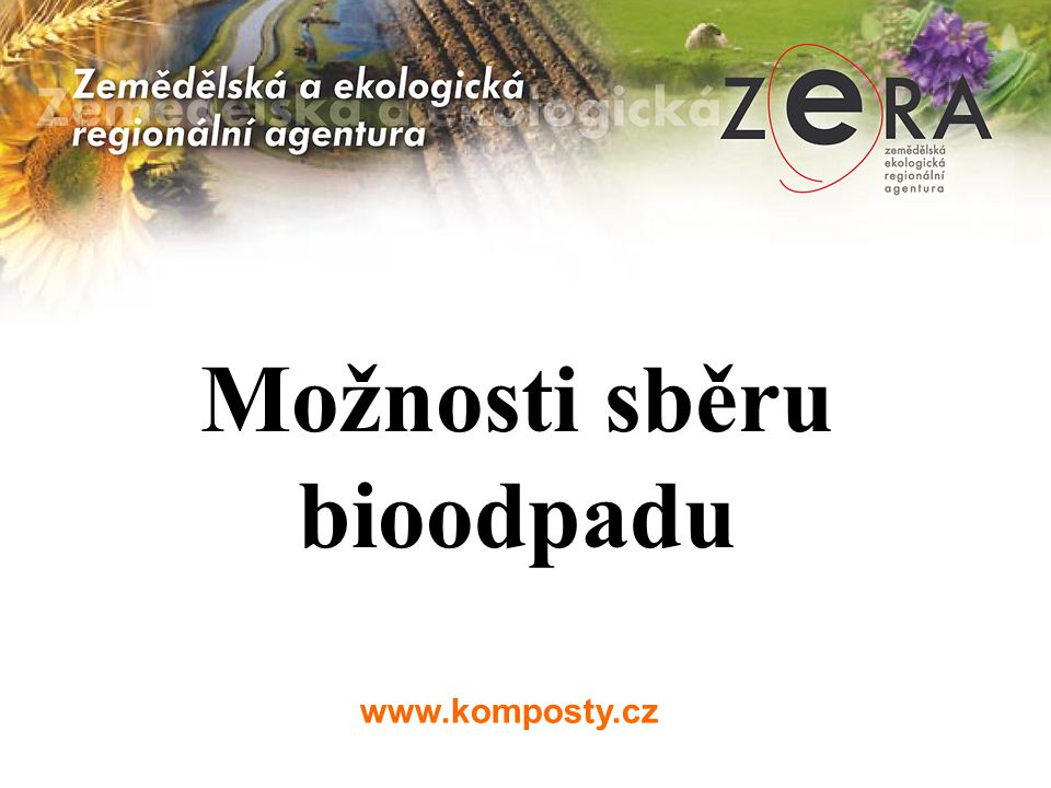 Možnosti sběru bioodpadu