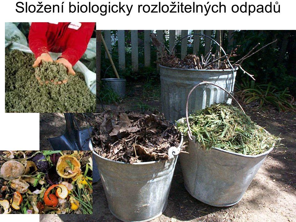 Složení biologicky rozložitelných odpadů