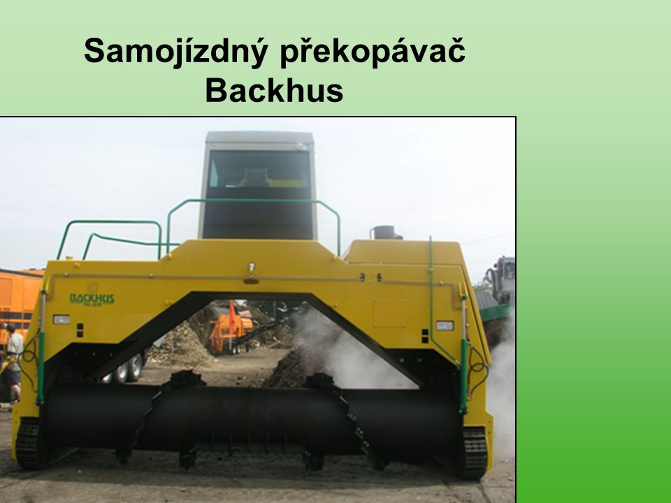 Samojízdný překopávač Backhus