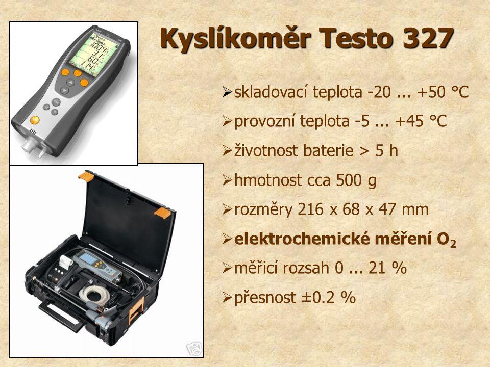Kyslíkoměr Testo 327 skladovací teplota -20 ... +50 °C