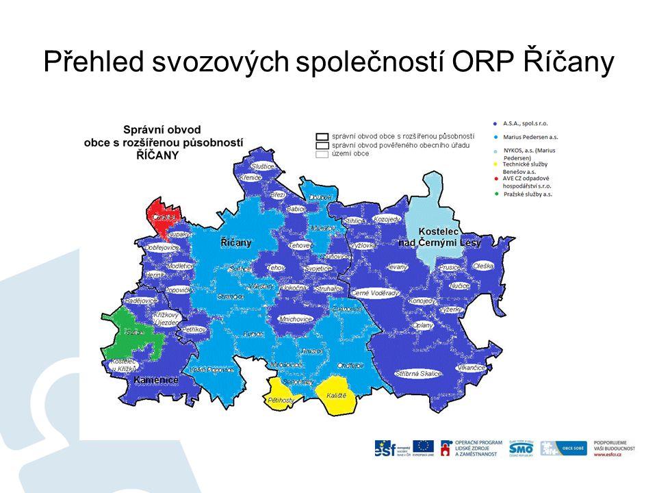 Přehled svozových společností ORP Říčany