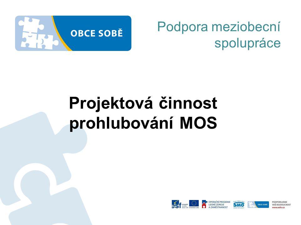 Projektová činnost prohlubování MOS