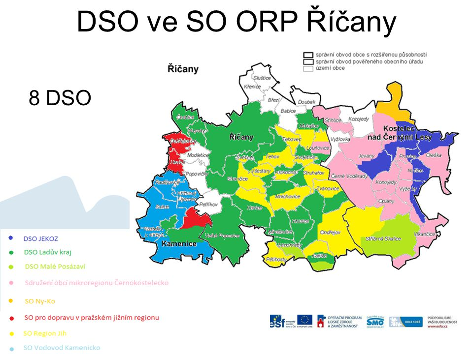 DSO ve SO ORP Říčany 8 DSO