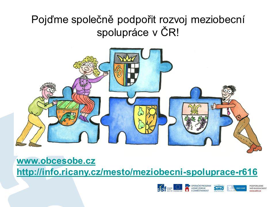 Pojďme společně podpořit rozvoj meziobecní spolupráce v ČR!