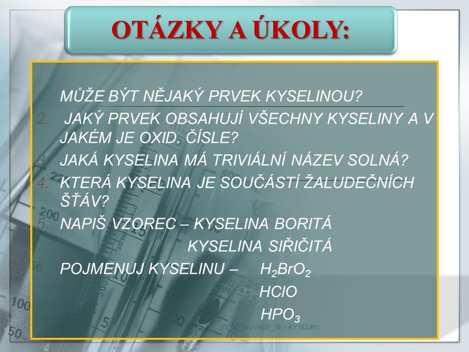 VY_32_INOVACE_18 - KYSELINY