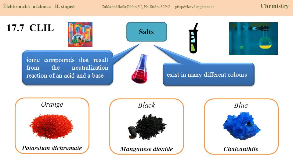 17.7 CLIL Salts Orange Black Blue
