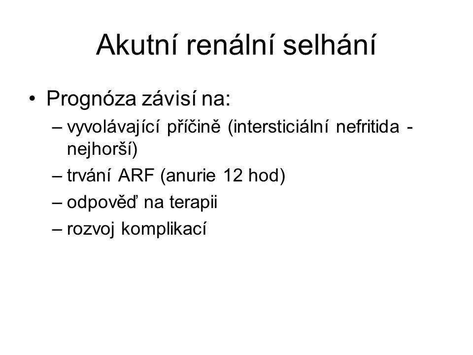 Akutní renální selhání