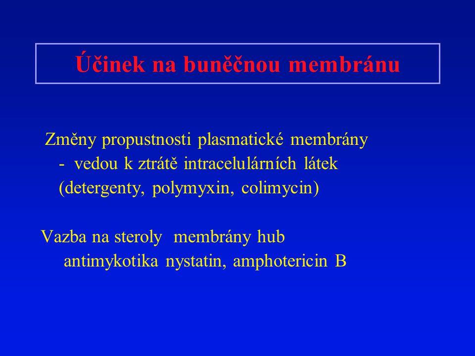 Účinek na buněčnou membránu