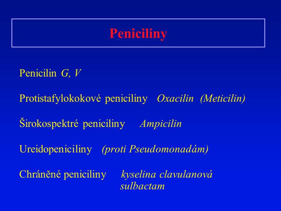Peniciliny Penicilin G, V