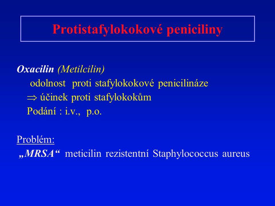 Protistafylokokové peniciliny