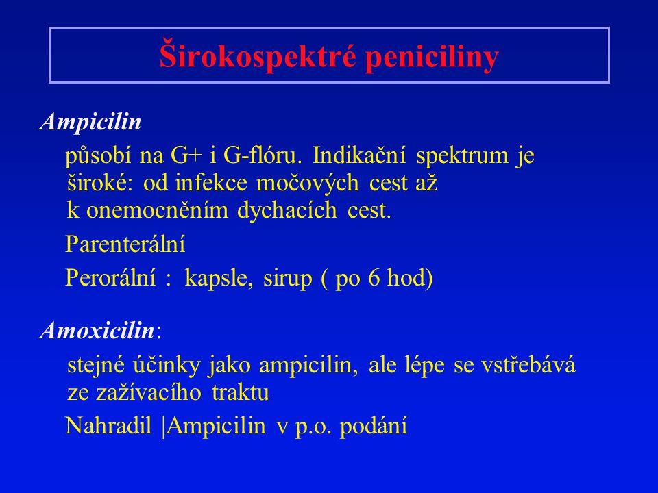 Širokospektré peniciliny