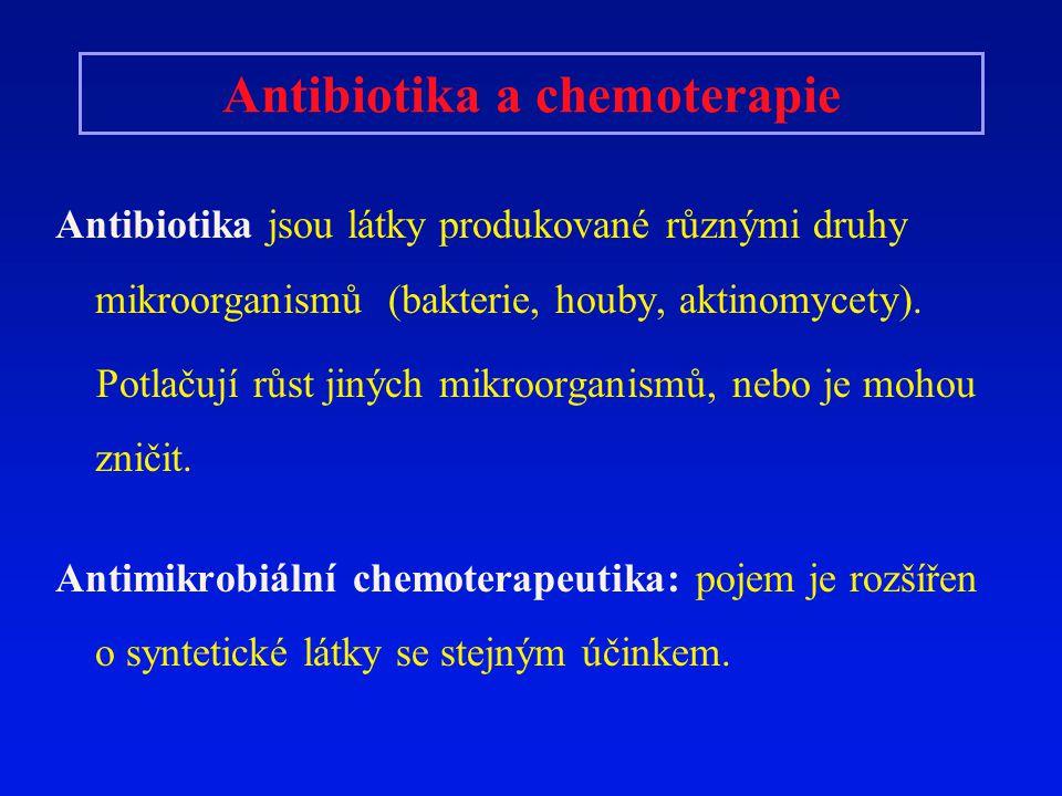 Antibiotika a chemoterapie