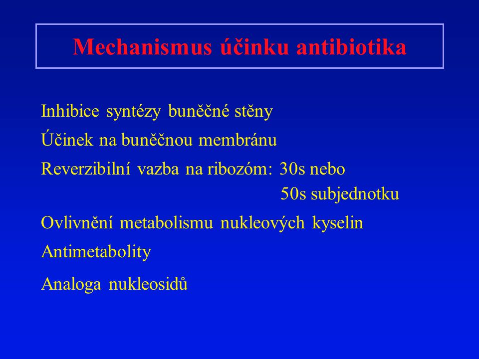 Mechanismus účinku antibiotika