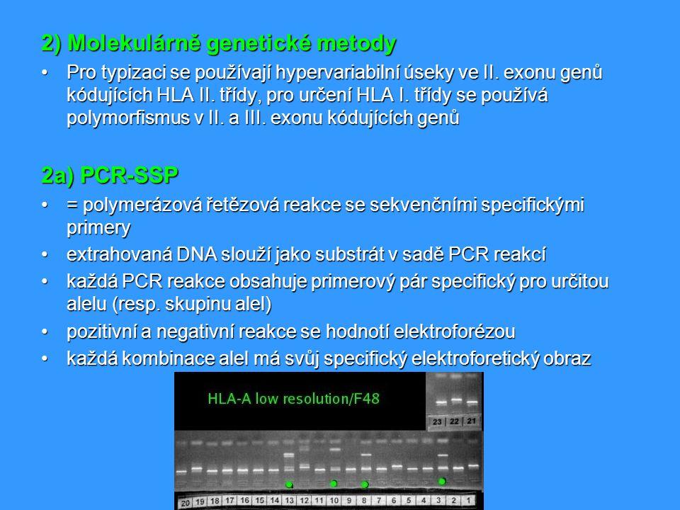 2) Molekulárně genetické metody