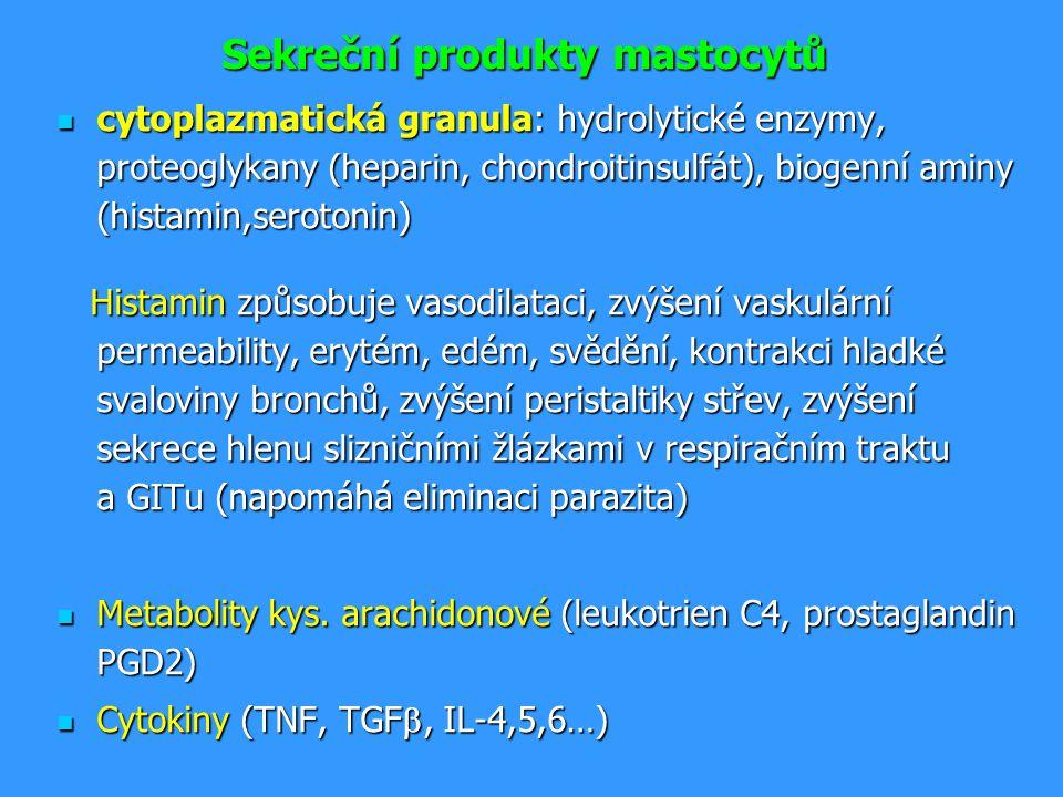 Sekreční produkty mastocytů