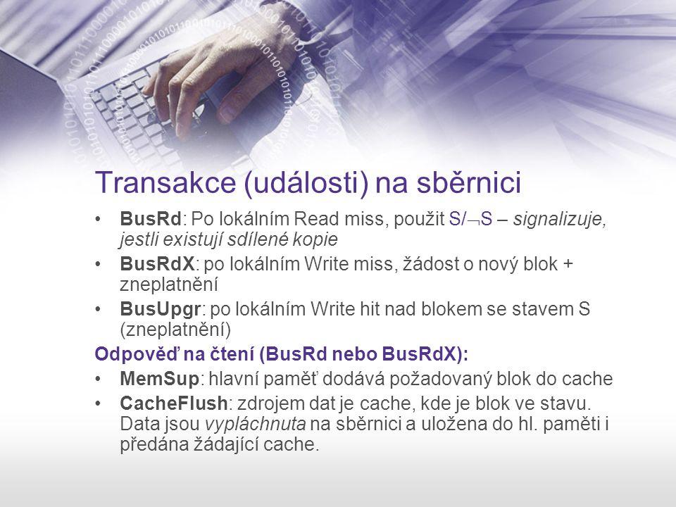 Transakce (události) na sběrnici