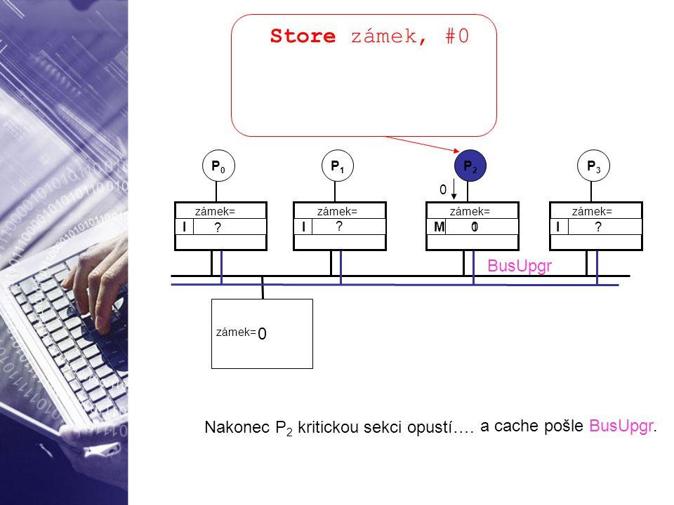 Store zámek, #0 BusUpgr Nakonec P2 kritickou sekci opustí….