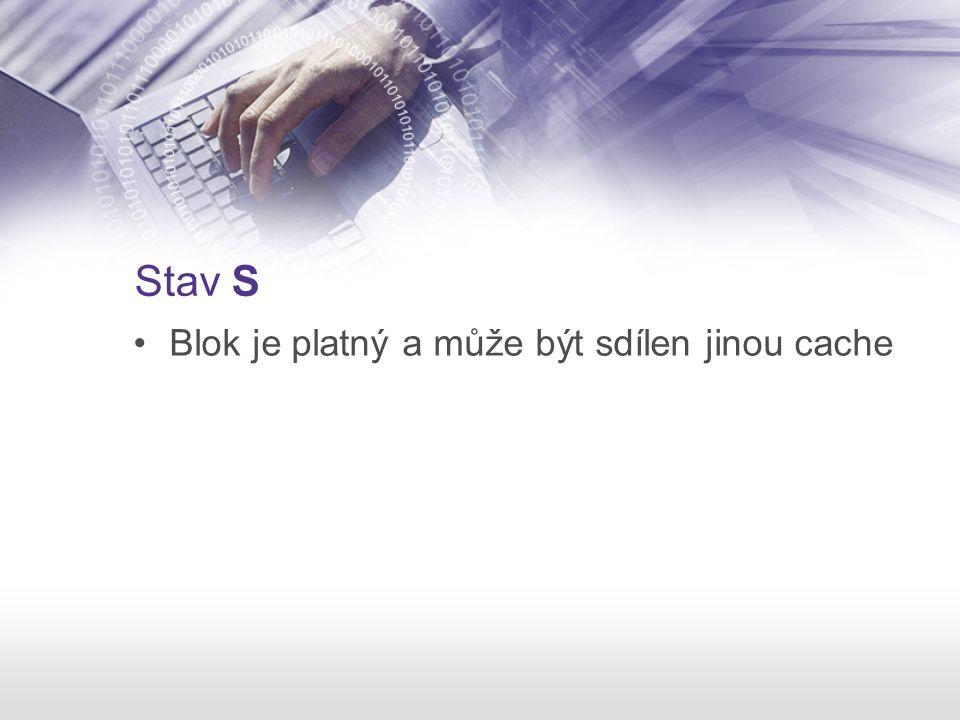 Stav S Blok je platný a může být sdílen jinou cache
