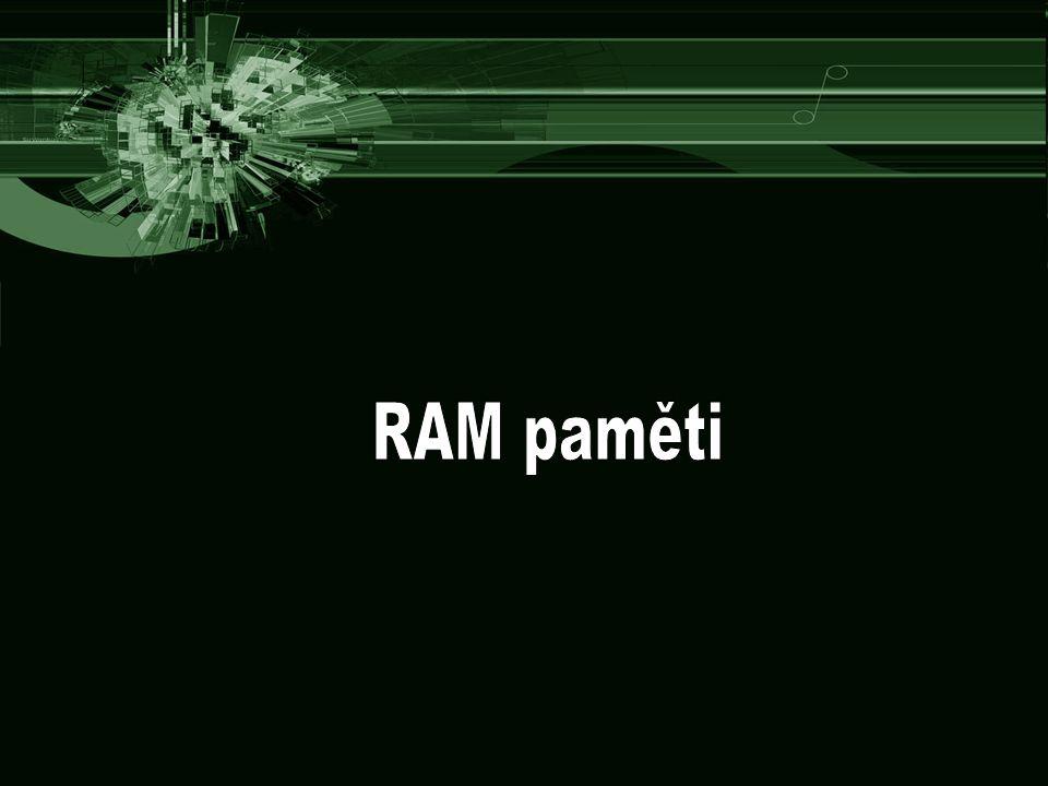 RAM paměti