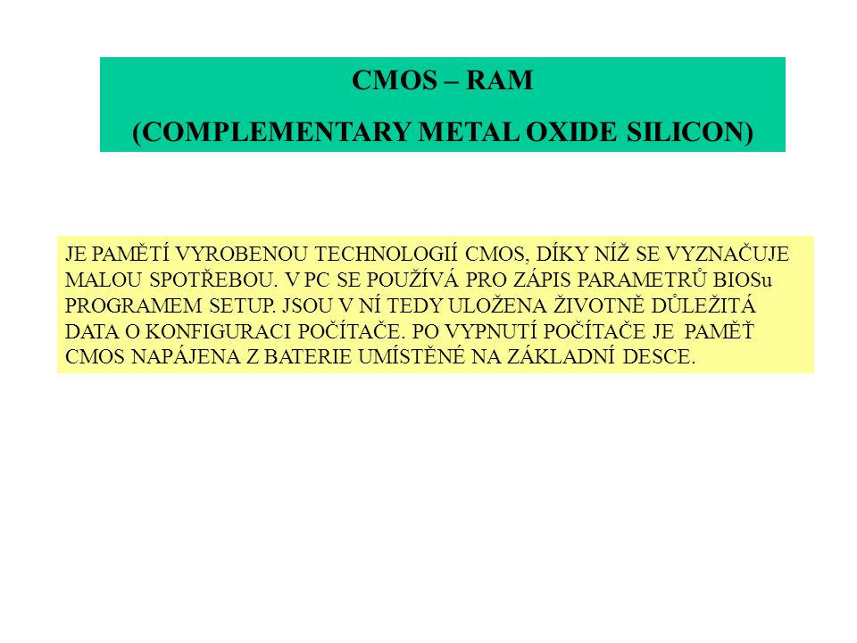 (COMPLEMENTARY METAL OXIDE SILICON)