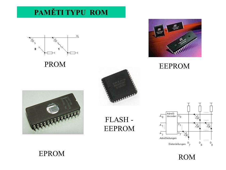 PAMĚTI TYPU ROM PROM EEPROM FLASH - EEPROM EPROM ROM