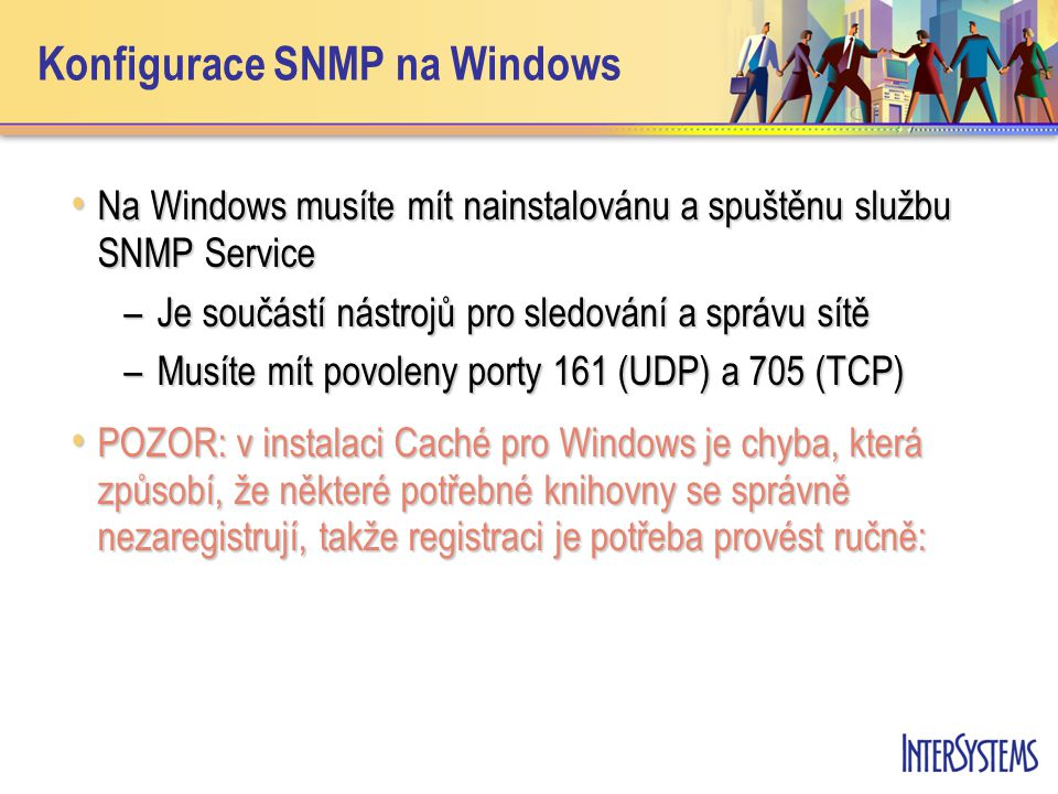 Konfigurace SNMP na Windows