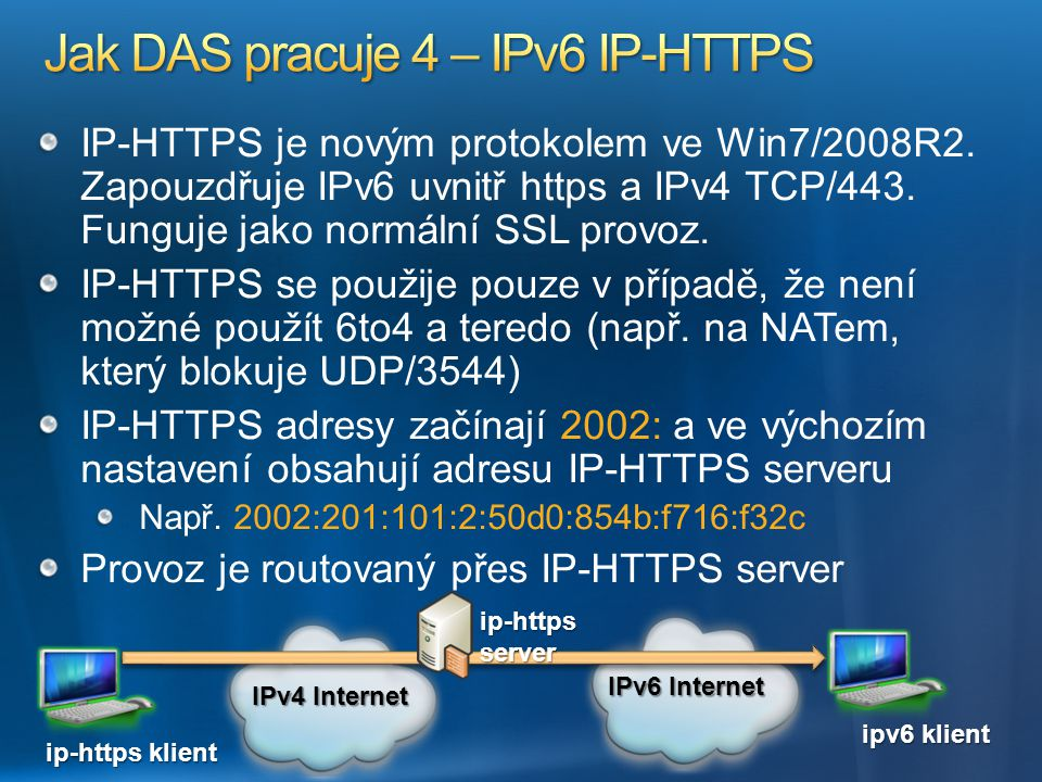 Jak DAS pracuje 4 – IPv6 IP-HTTPS