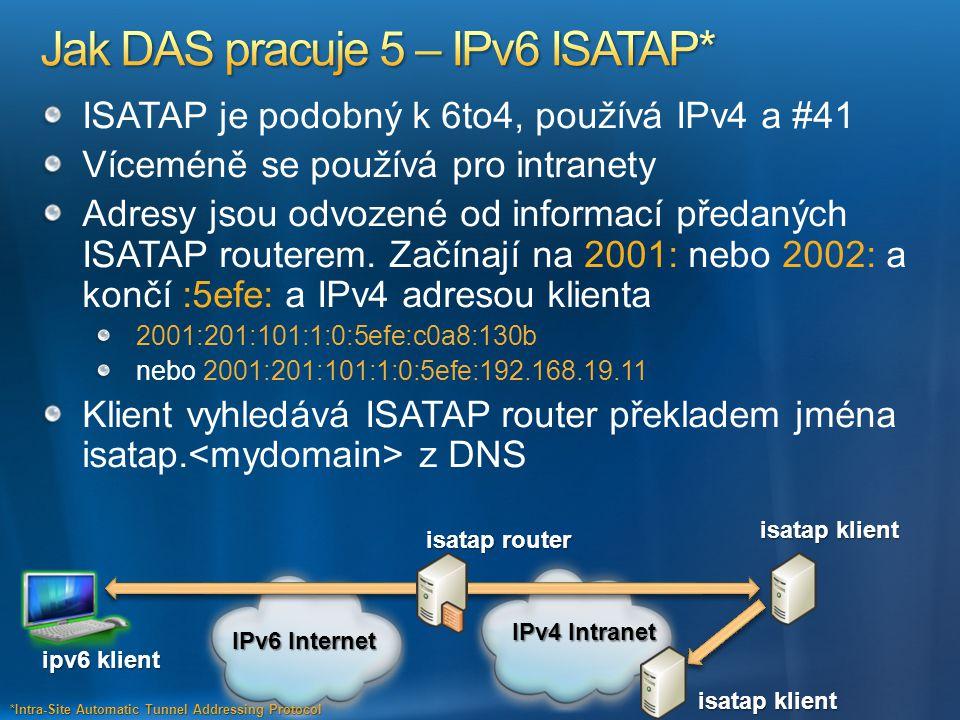 Jak DAS pracuje 5 – IPv6 ISATAP*