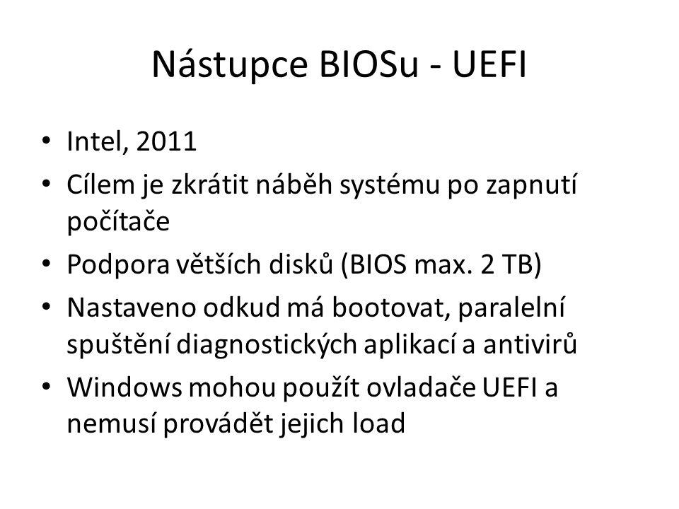 Nástupce BIOSu - UEFI Intel, 2011