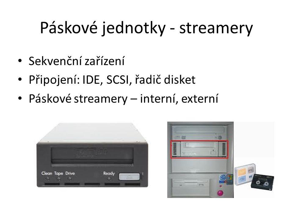 Páskové jednotky - streamery