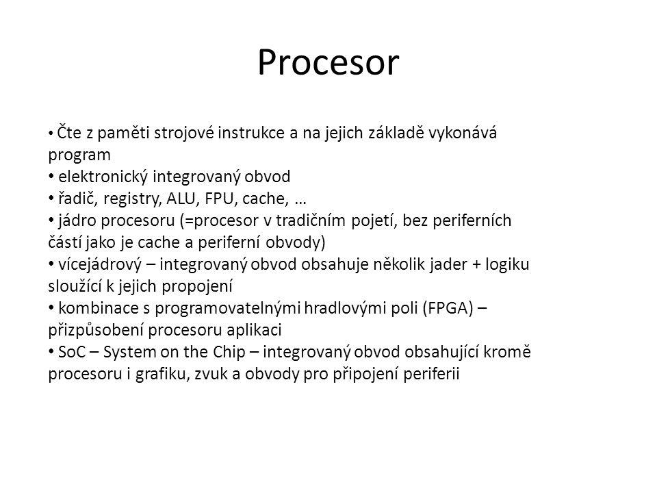 Procesor elektronický integrovaný obvod