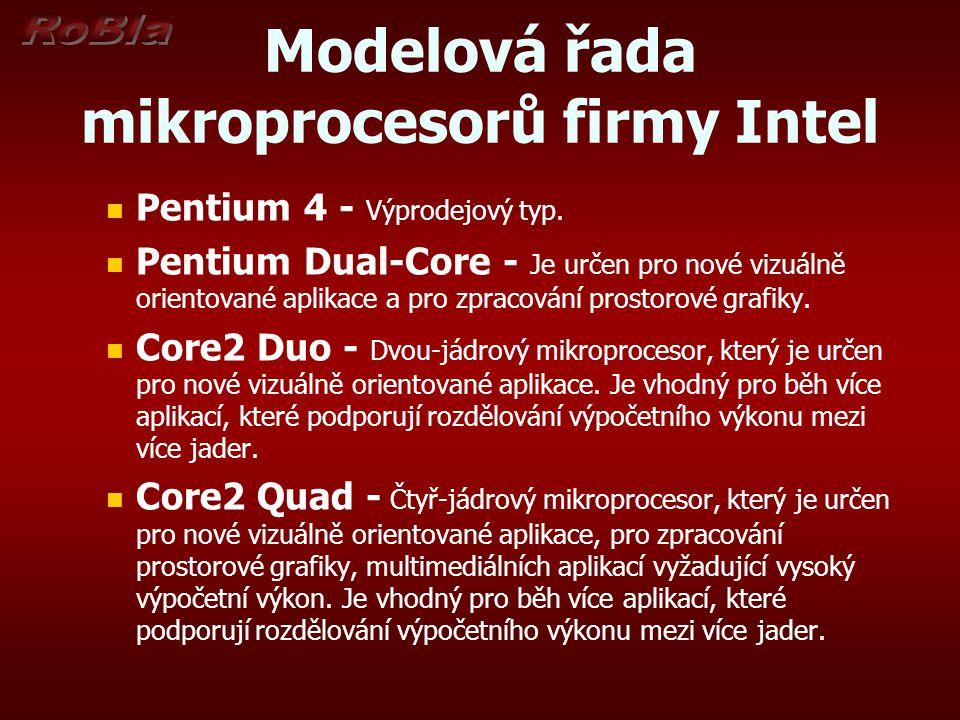 Modelová řada mikroprocesorů firmy Intel