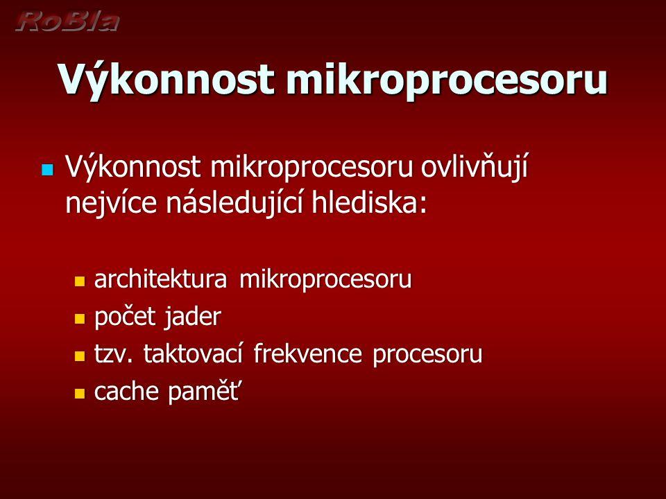 Výkonnost mikroprocesoru