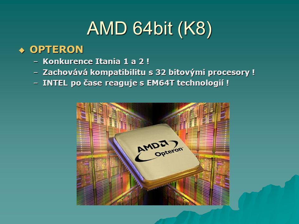 AMD 64bit (K8) OPTERON Konkurence Itania 1 a 2 !