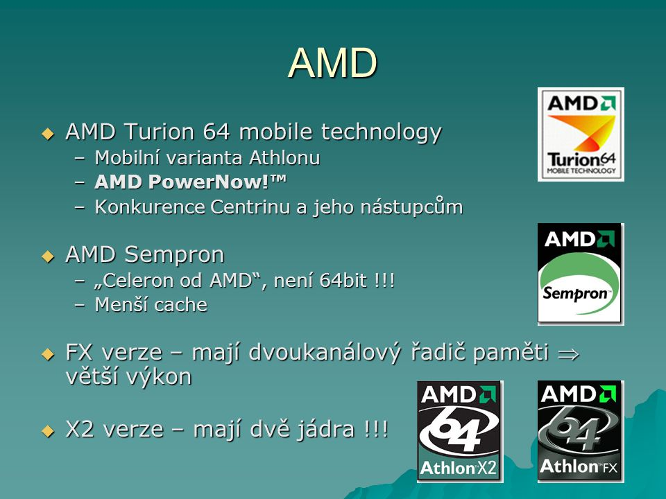 AMD AMD Turion 64 mobile technology AMD Sempron